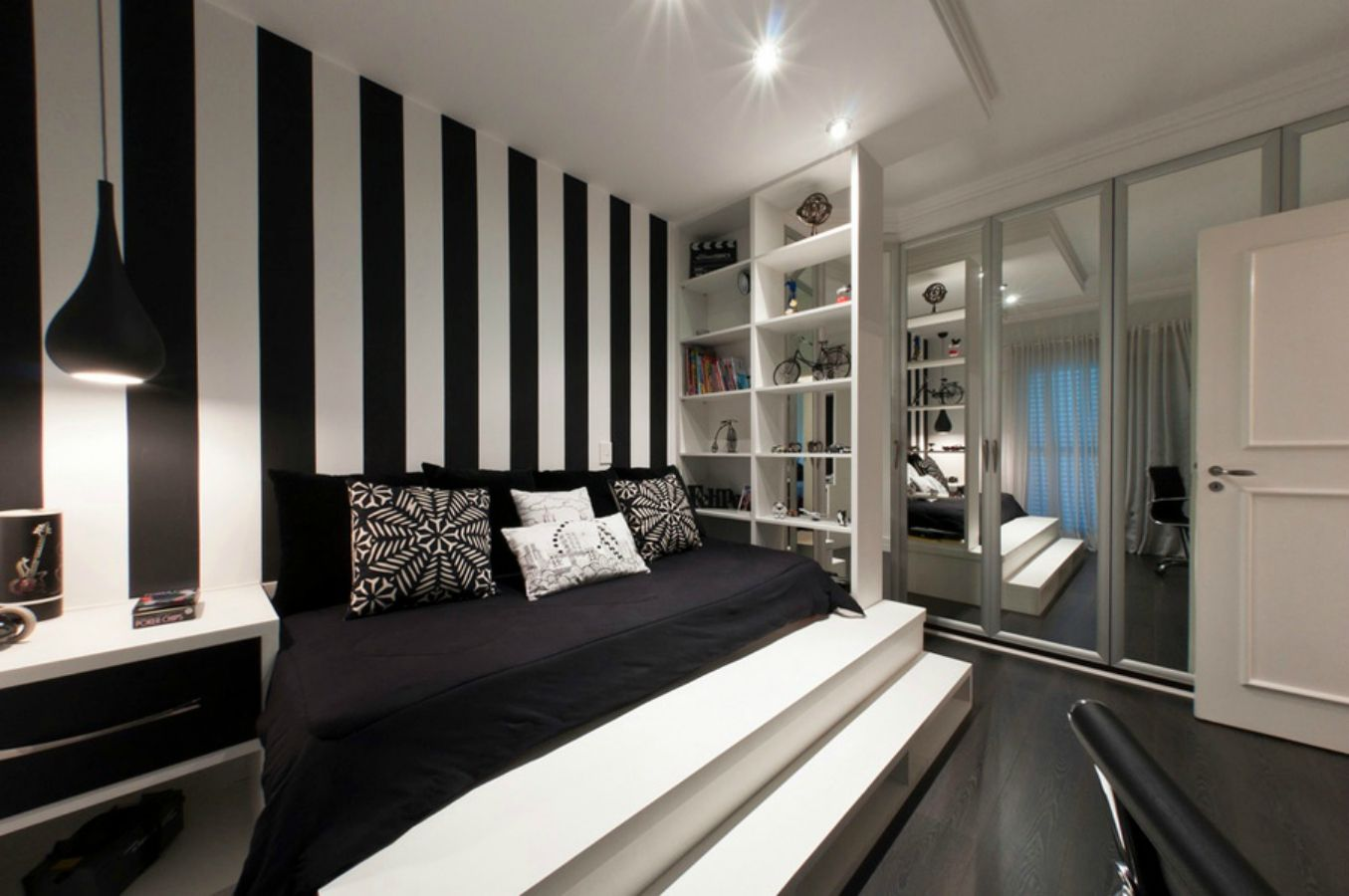 6-black-white-bedroom-platform-bed