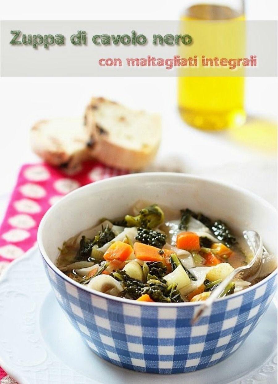 Zuppa di cavolo nero con maltagliati integrali