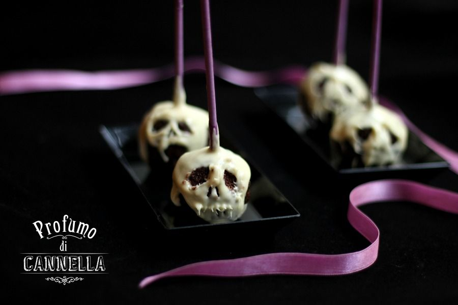 Cake pops teschio