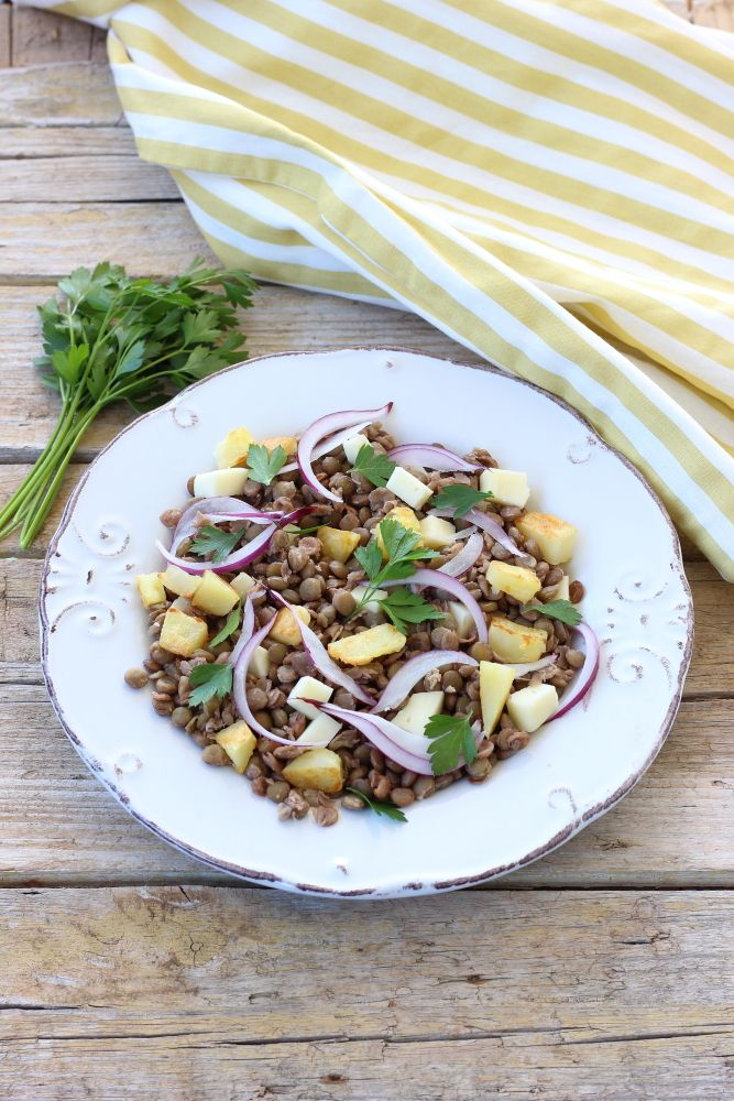 Insalata tiepida di lenticchie e patate