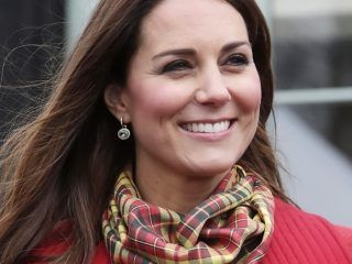 Britain's Catherine, Duchess of Cambridge, visits Dumfries House in Ayrshire, Scotland, on April 5, 2013. The Duke and Duchess of Cambridge braved the bitter cold to attend with Prince of Wales the official opening of the Tamar Manoukin Outdoor Centre. AFP PHOTO/POOL/DANNY LAWSON        (Photo credit should read DANNY LAWSON/AFP/Getty Images)