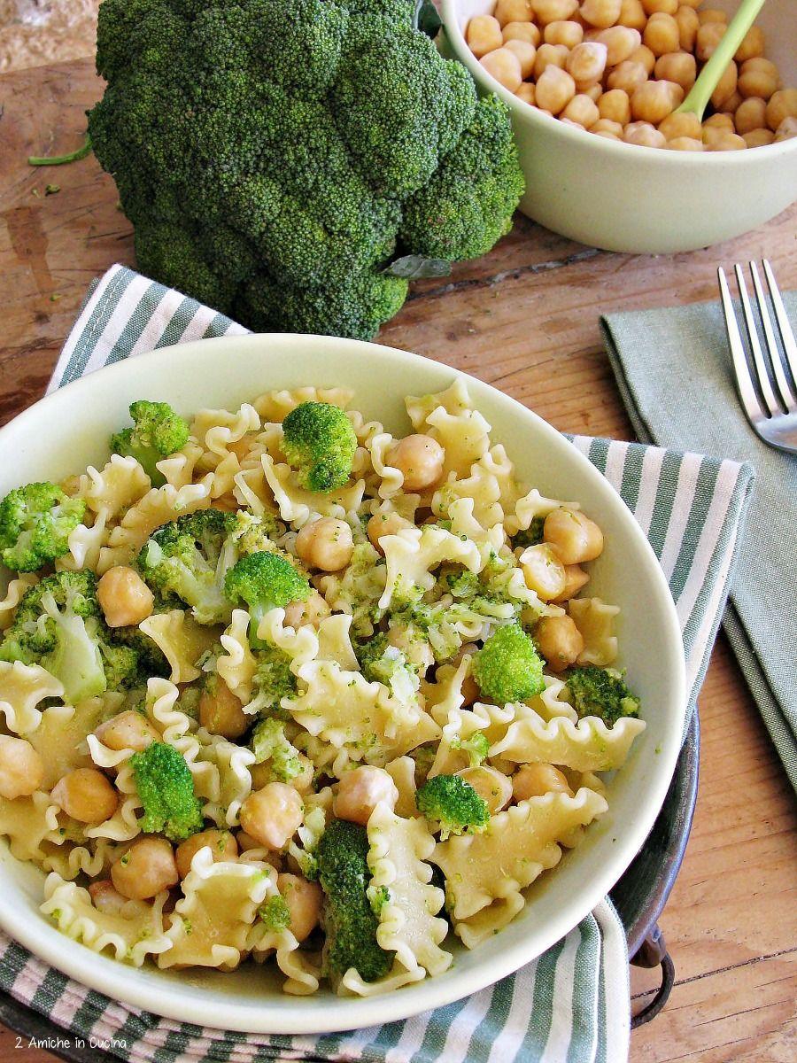Pasta con broccoli e ceci
