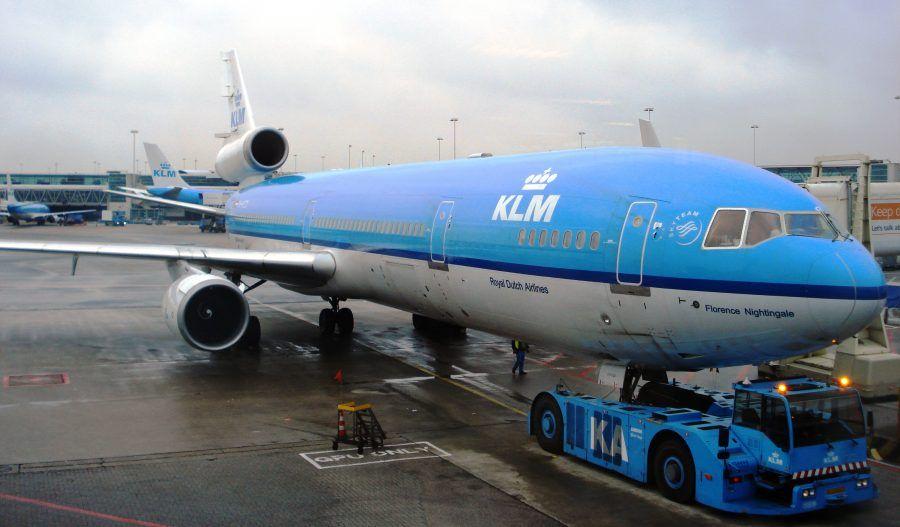 Un aereo della compagnia olandese KLM