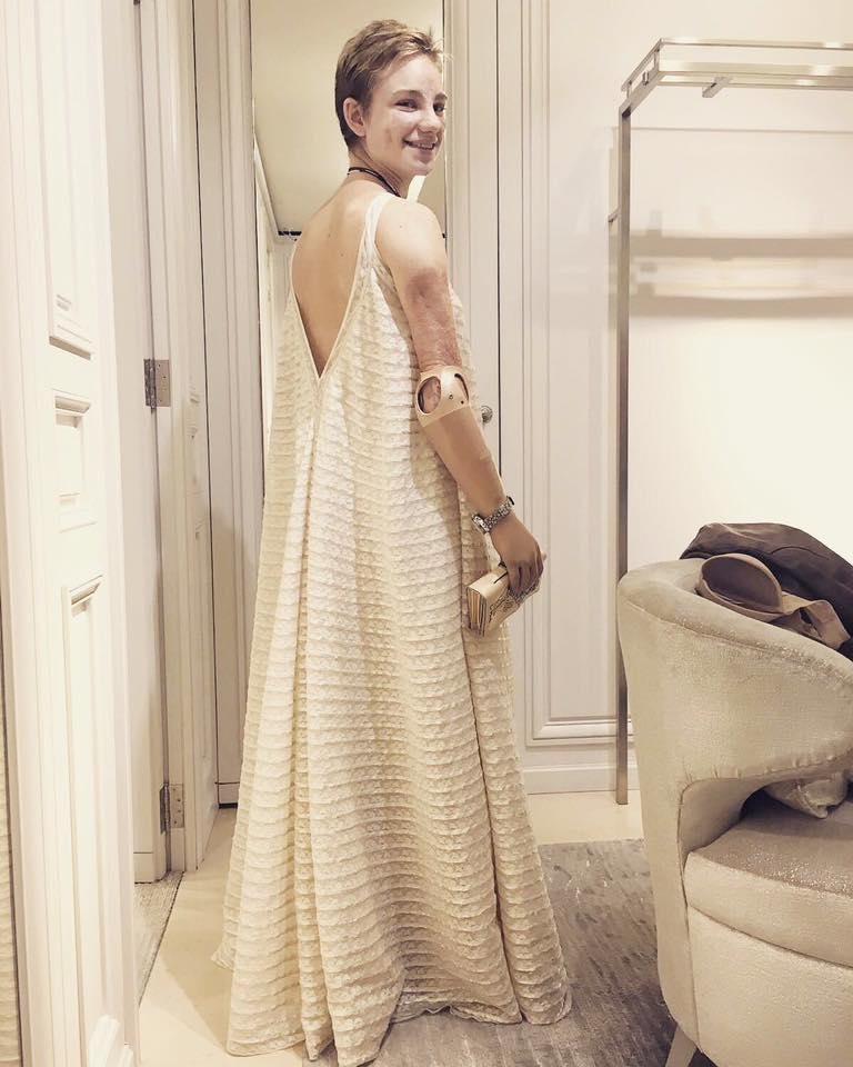 L'abito Dior scelto da Bebe Vio per la serata
