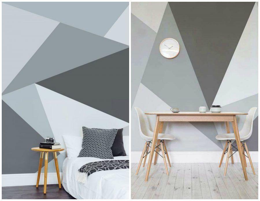 Tendenza casa dipingere le pareti con grandi macchie di colore bigodino - Dipinti camera da letto ...