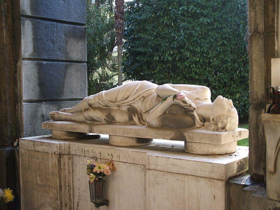 Una tomba del Cimitero di Staglieno