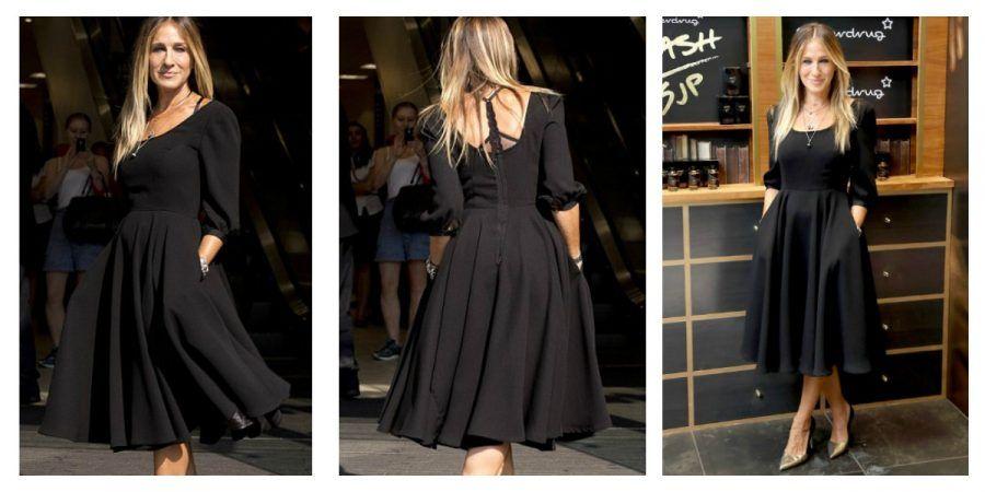 collage little black dress