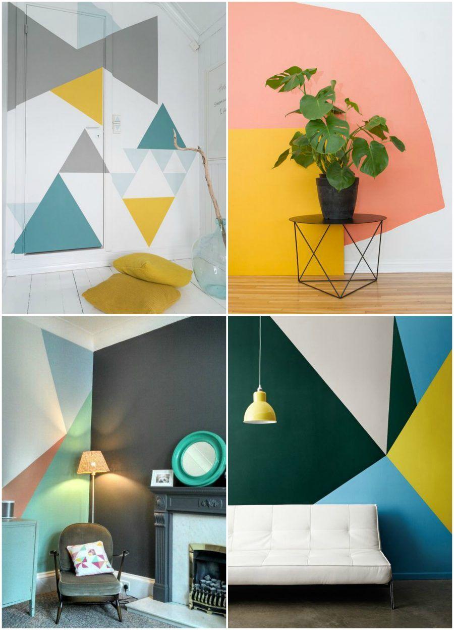 Tendenza casa dipingere le pareti con grandi macchie di colore bigodino - Dipingere le pareti di casa ...