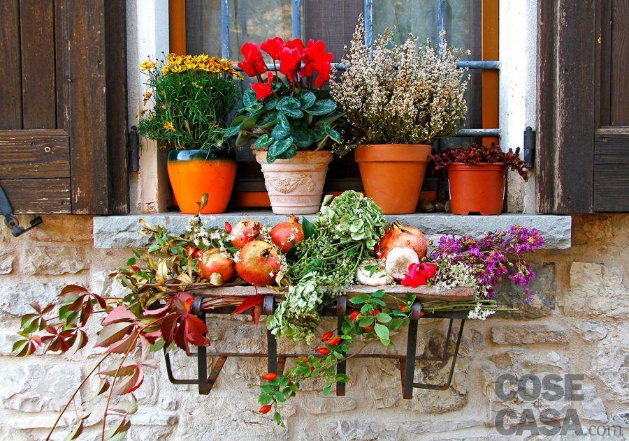 Come arredare terrazzi e balconi in autunno bigodino - Composizioni autunnali casa ...