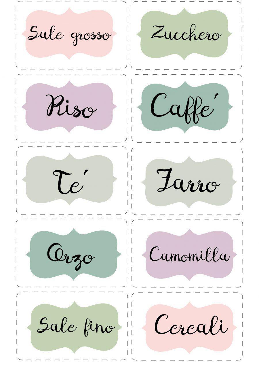 Bien connu Le etichette per la cucina da stampare | Bigodino ZS07