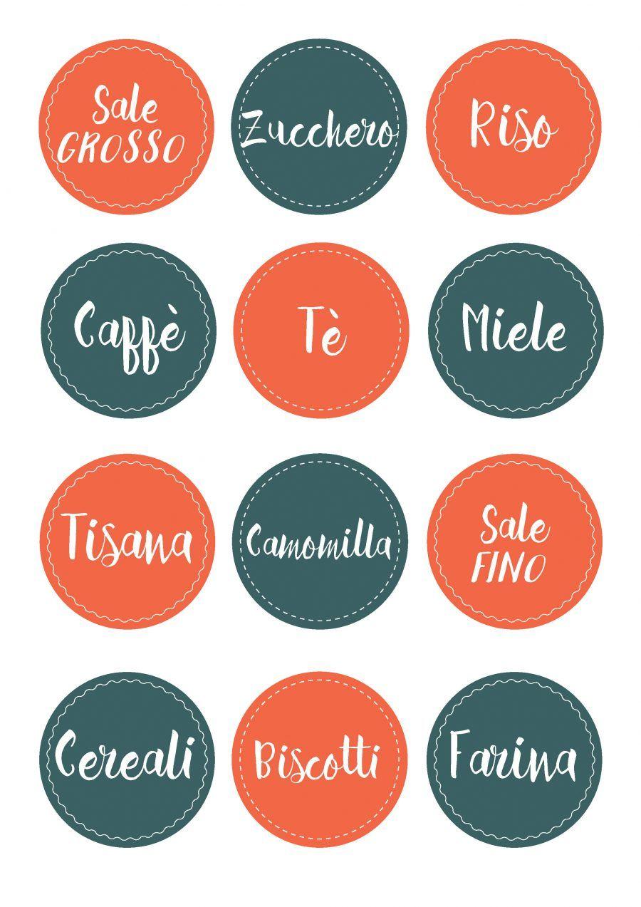 Le etichette per la cucina da stampare | Bigodino
