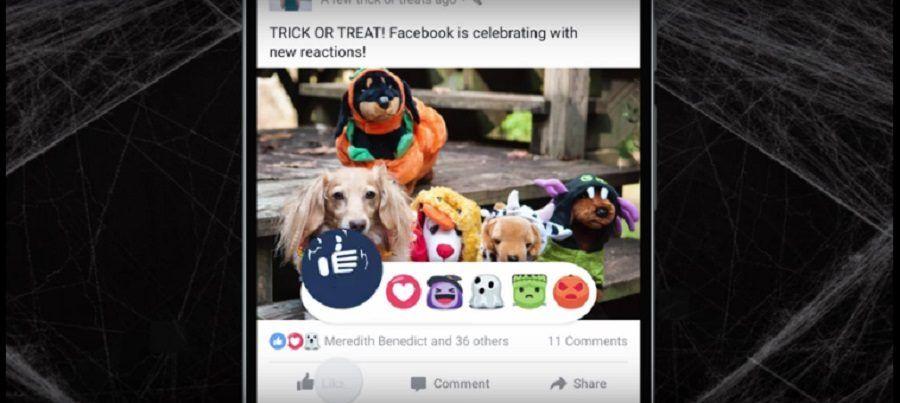 Queste sono le reaction di Halloween su Facebook