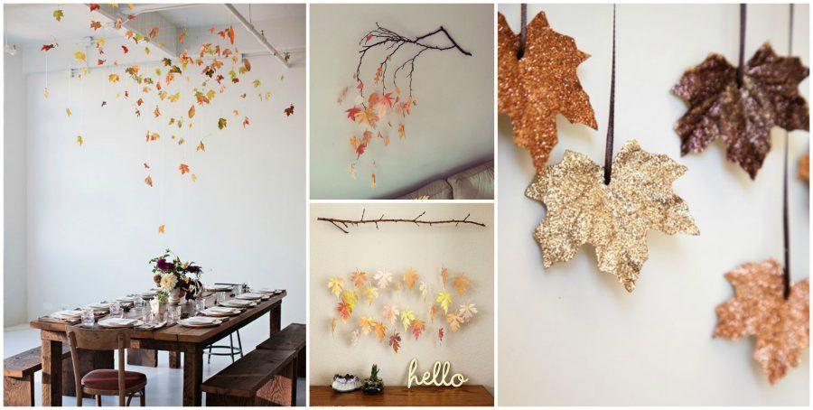 Diy d 39 autunno tante decorazioni con le foglie bigodino - Decorazioni d autunno ...