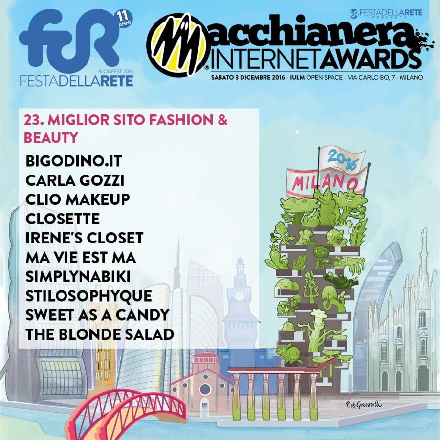 Macchianera Internet Awards 2016 - Categoria Fashion&Beauty
