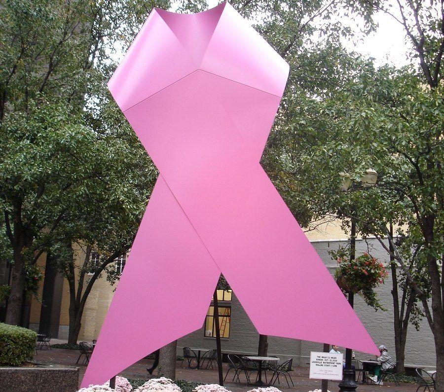 Il nastro rosa simbolo della lotta contro i tumori al seno