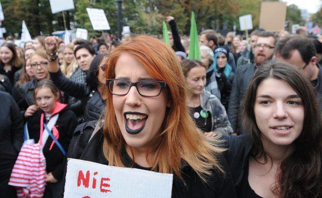 La protesta contro la legge sull'aborto