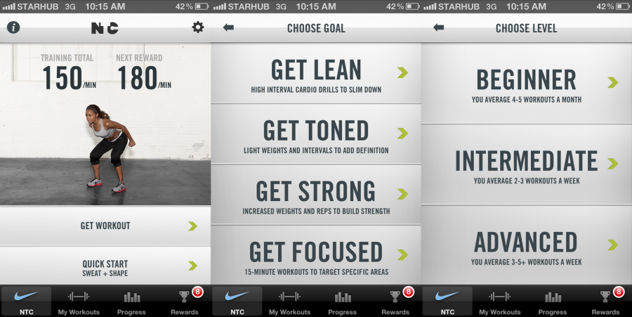 Nike Training Club, un personal trainer in tasca.