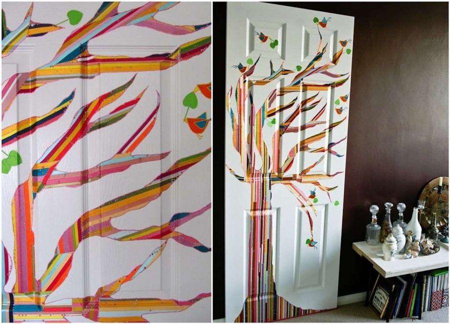 Porte decorate con il decoupage