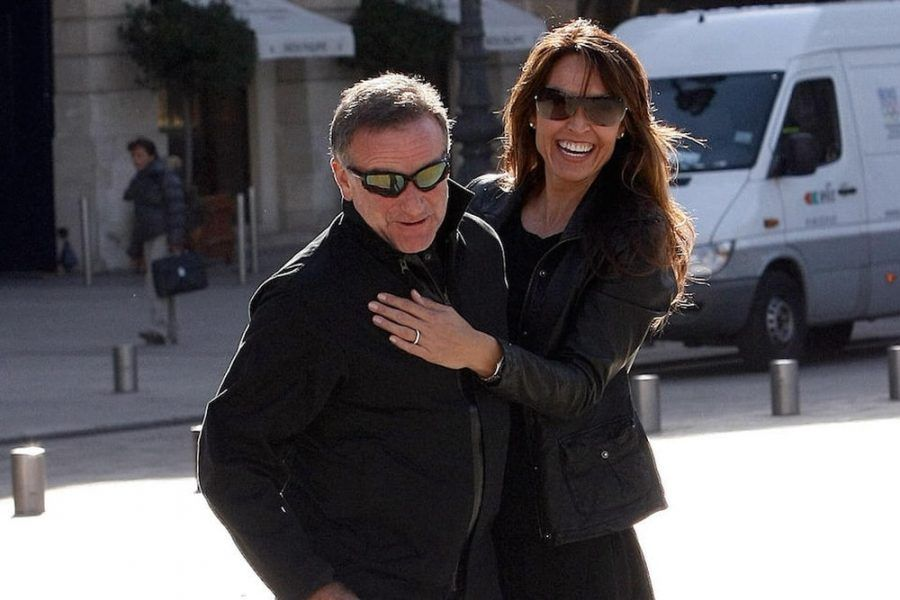 Robin Williams e sua moglie Susan Schneider Williams nel 2012.