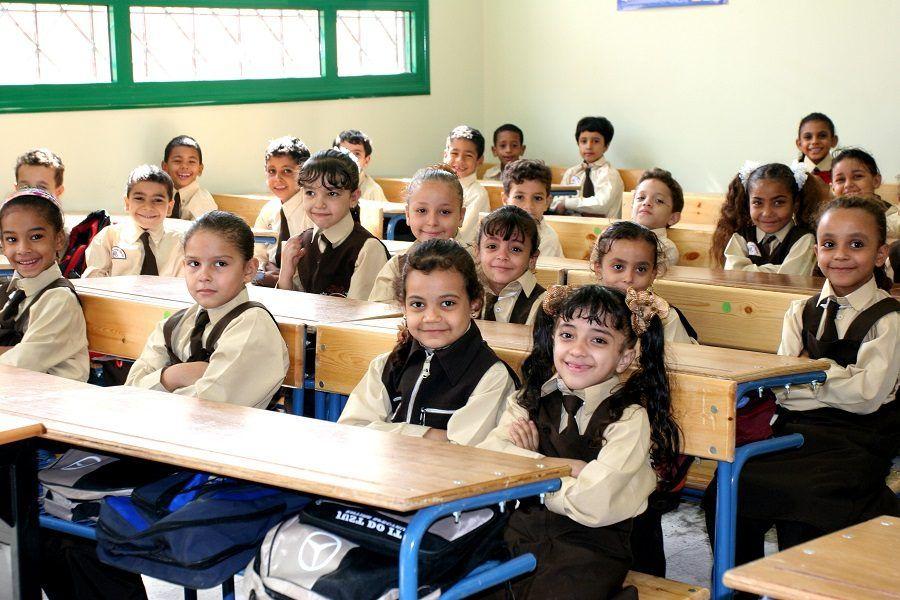 Studenti delle elementari in classe