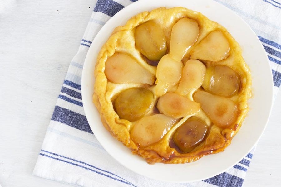 Tarte tatin di pere, mele e cannella.