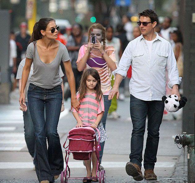 Tom Cruise e Katie Holmes con la figlia Suri