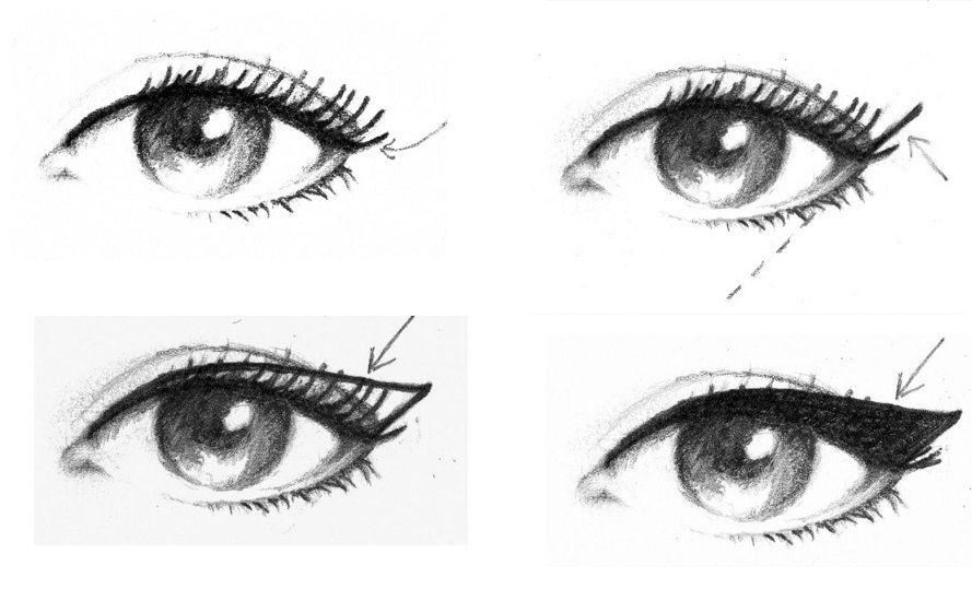 Il make-up per gli occhi da gatta