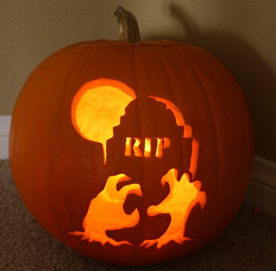 Una zucca di Halloween decorata