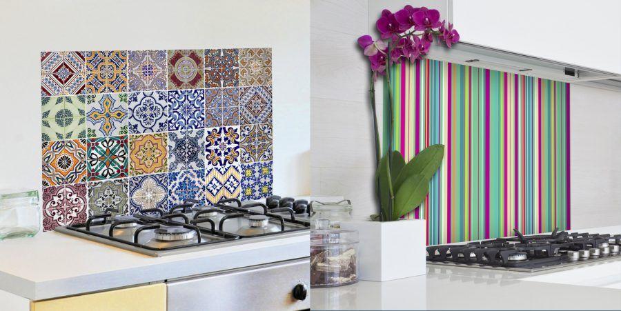 Paraschizzi originali per un nuovo look al piano cucina for Paraschizzi cucina mosaico