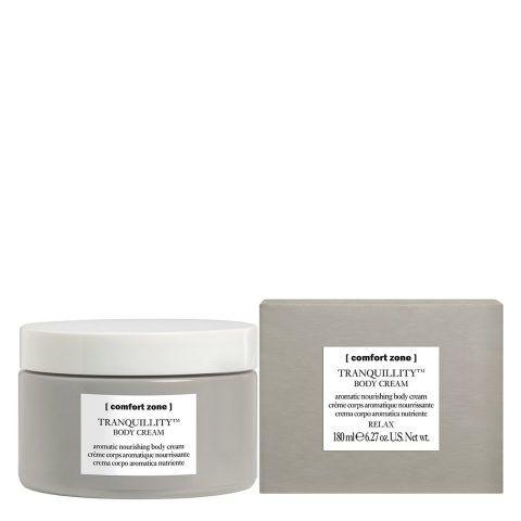 Tranquillity Body Cream Comfort Zone  contiene olio di amaranto e oli essenziali.