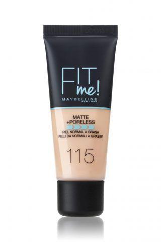 Il fondotinta liquido anti-lucido di Maybelline per pelli da normali a grasse con micro-polveri assorbenti.