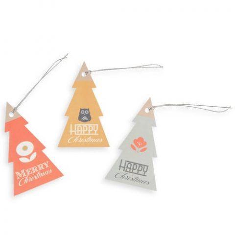 6 etichette albero per regali di Natale VINTAGE - 1.49 euro