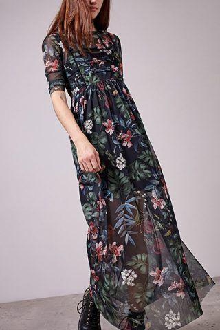 Maxi dress stampato di Stradivarius (45,95 €)