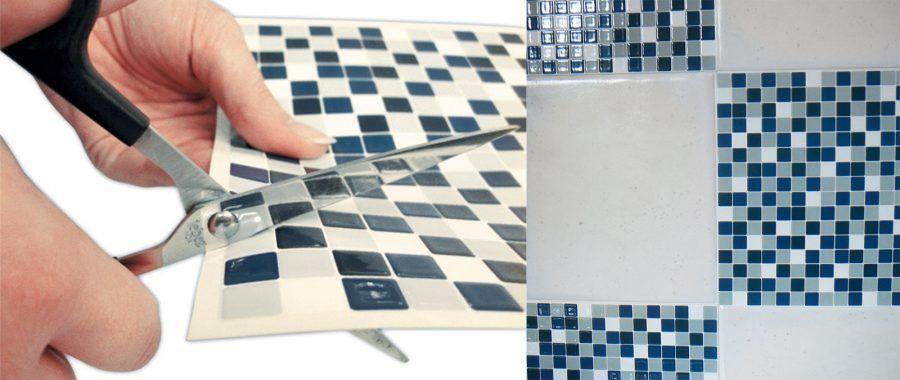 Paraschizzi originali per un nuovo look al piano cucina bigodino - Piastrelle in pvc adesive ...