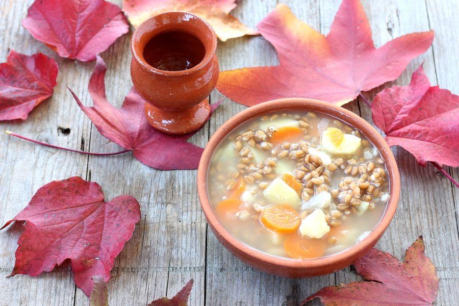 Zuppa di farro invernale