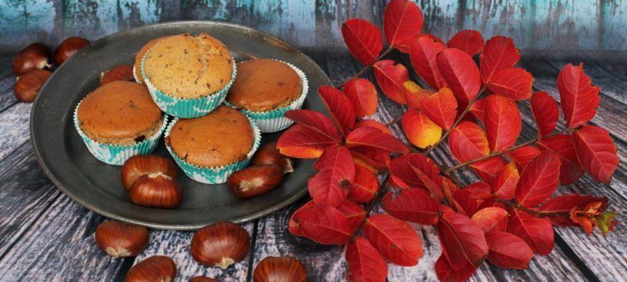 Muffin vegani alle castagne