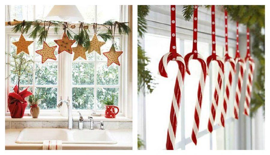 Come rendere magiche le tue finestre durante le feste di - Corone natalizie da appendere alla porta ...
