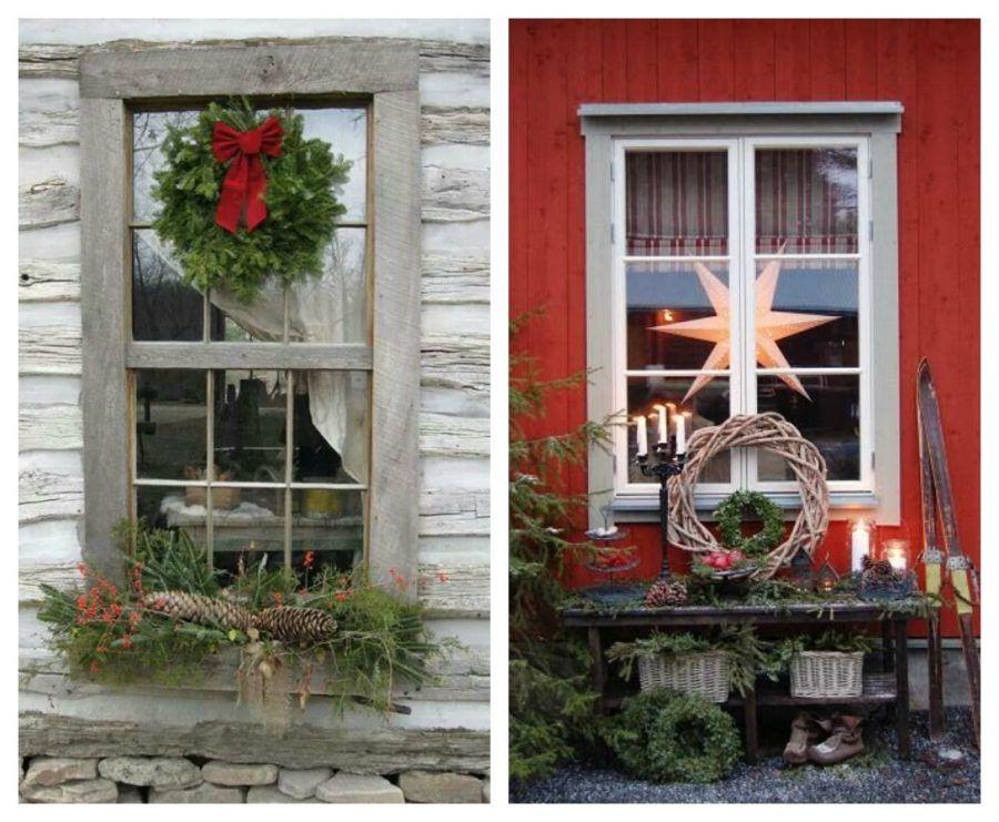 Come rendere magiche le tue finestre durante le feste di natale bigodino - Decori per finestre esterne ...