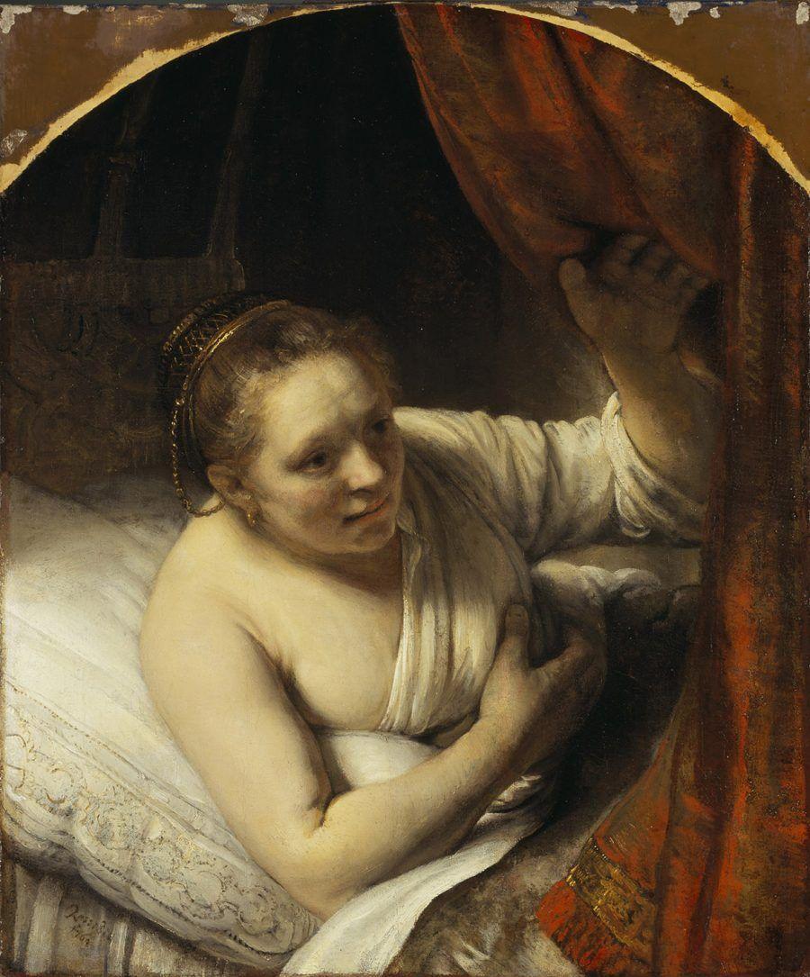 Una donna nel letto Rembrandt