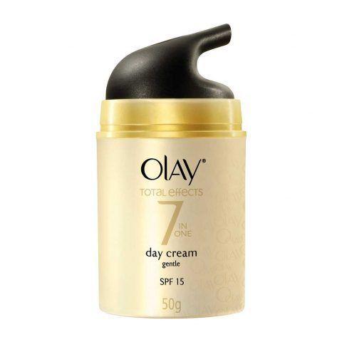 Olaz Total Effects Crema Giorno Anti-età  offre alla pelle i 7 benefici anti-età in un unico prodotto. In più la protezione SPF15 previene l'invecchiamento cellulare precoce proteggendoti dai raggi solari.