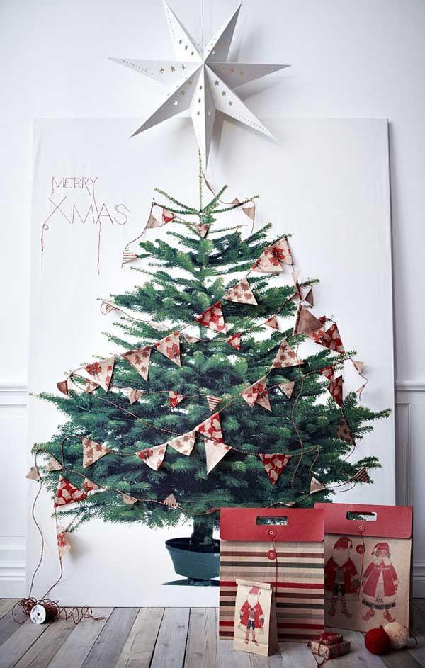 L'albero è stampato e si può decorare