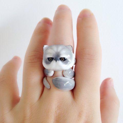 Anelli Mary Lou con animali: il gatto