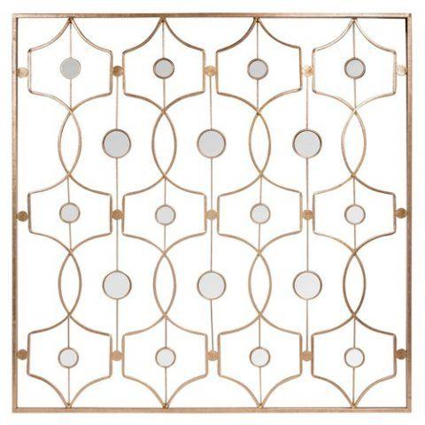 Arredo da parete dorato con specchi in metallo - 99.99 euro