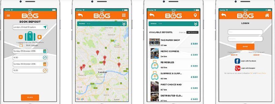 Ecco come appare l'app BagApp