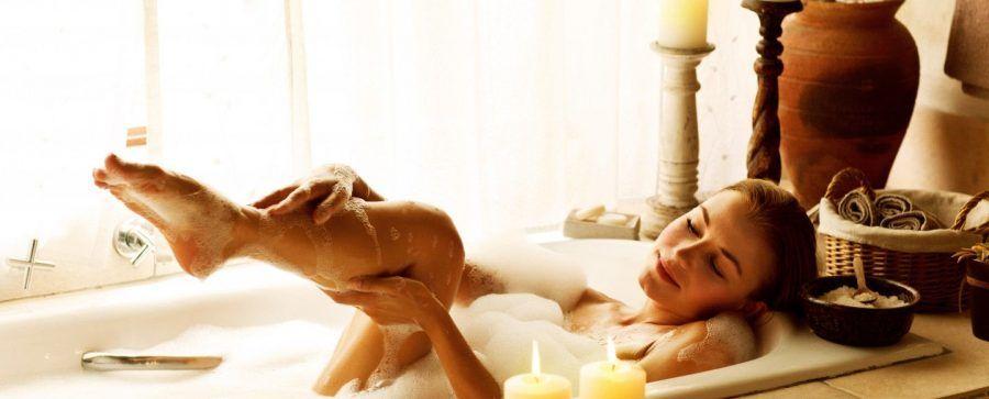 Perfetto anche un bagno caldo con oli e candele profumate.