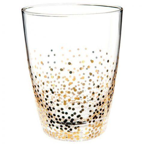Bicchiere da acqua effetto crepato dorato - 29.94 euro (confezione da 6)