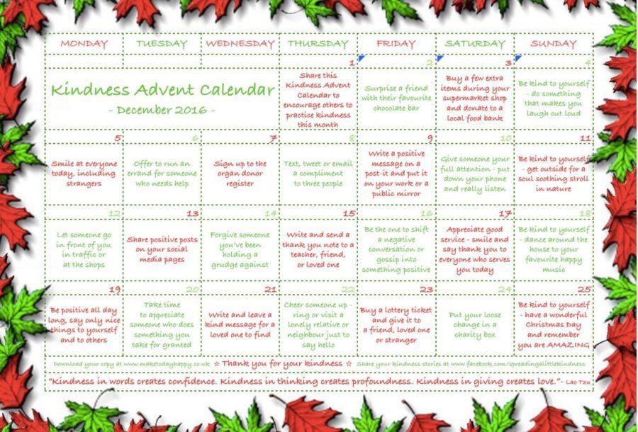 Calendario Traduzione Inglese.Il Calendario Dell Avvento Della Gentilezza Che Tutti