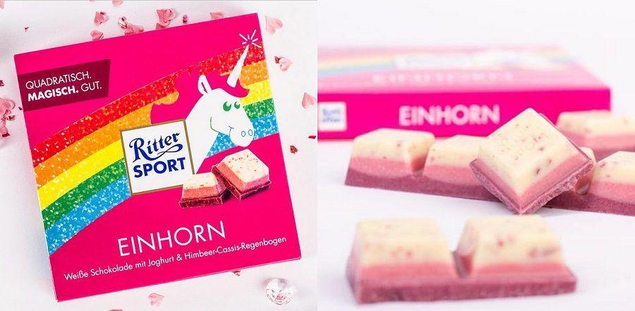 Il cioccolato Ritter Sport al gusto di unicorno