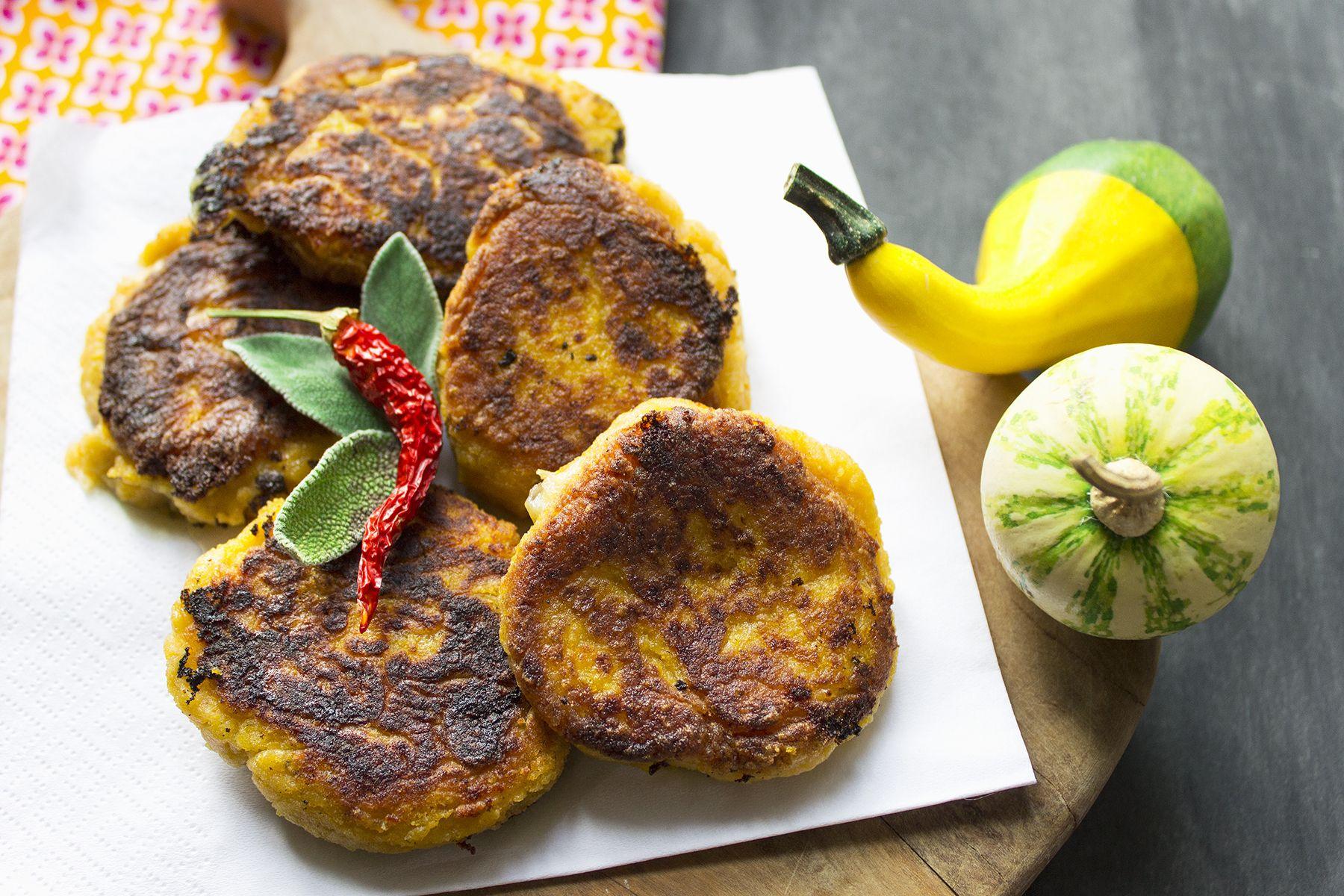 Crocchette di zucca e patate al formaggio