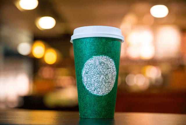 Il design del nuovo bicchiere di Starbucks